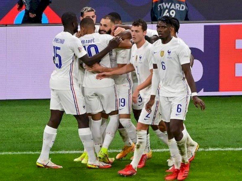 Prancis menjadi juara UEFA Nations League usai mengalahkan Spanyol 2-1.