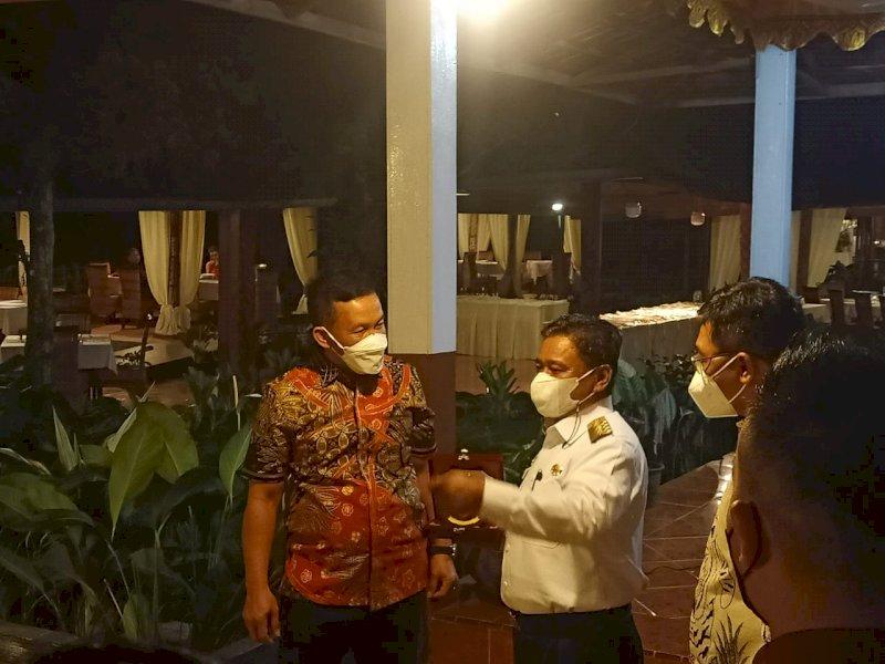 Ombas saat menerima Kunker Pangdam XIV Hasanuddin.